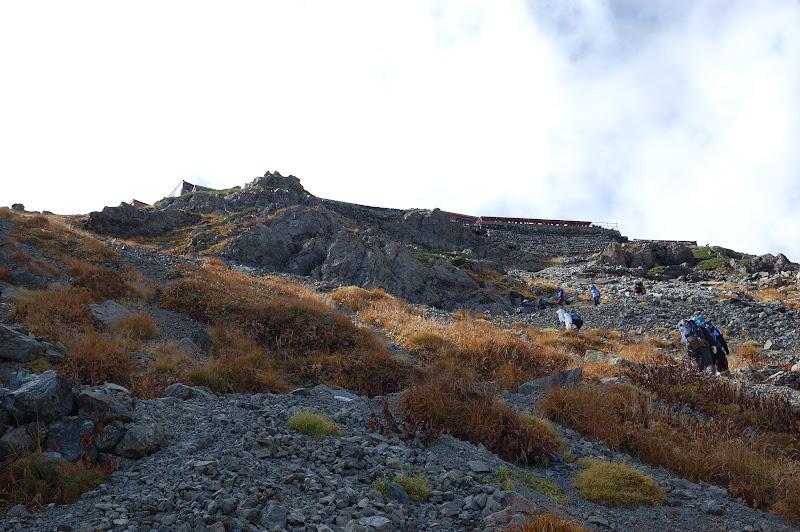 槍ヶ岳山荘への最後の登り
