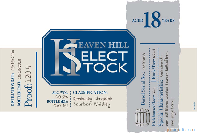 Heaven Hill Select Stock 18-YearHeaven Hill Select Stock 18-Year