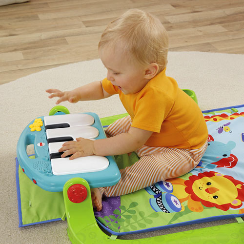 Thảm nằm chơi piano Fisher Price BMH49