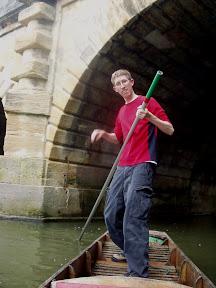 Punting under Magdalen Bridge