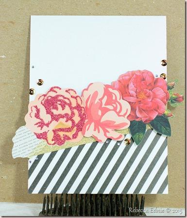 roses n washi card