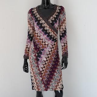 Missoni Knit Faux Wrap Dress