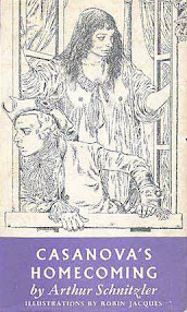 Cover of Arthur Schnitzler's Book Casanova Homecoming