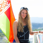 INDIAN WELLS, UNITED STATES - MARCH 20 : Victoria Azarenka at the 2016 BNP Paribas Open trophy photo shooting