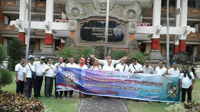 Study Komporatif Wartawan Unit DPRD Medan ke DPRD Kota Denpasar dan DPRD Kabupaten Badung.