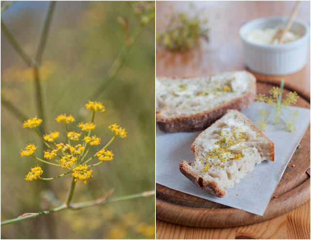 fennel pollen with bread and butter
