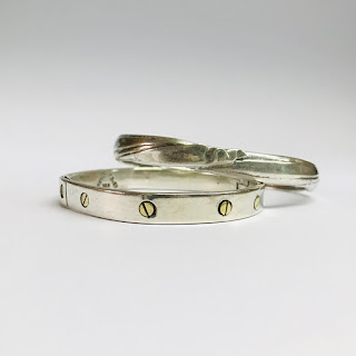Sterling Silver Bangle Pair