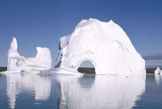 Ledene plošče ob obali Grenlandije