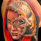 eye mask arm - tattoos ideas