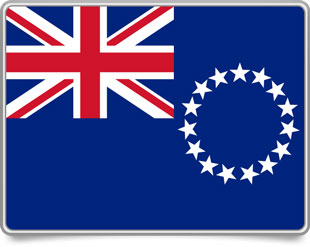 Cook-Island framed flag icons with box shadow