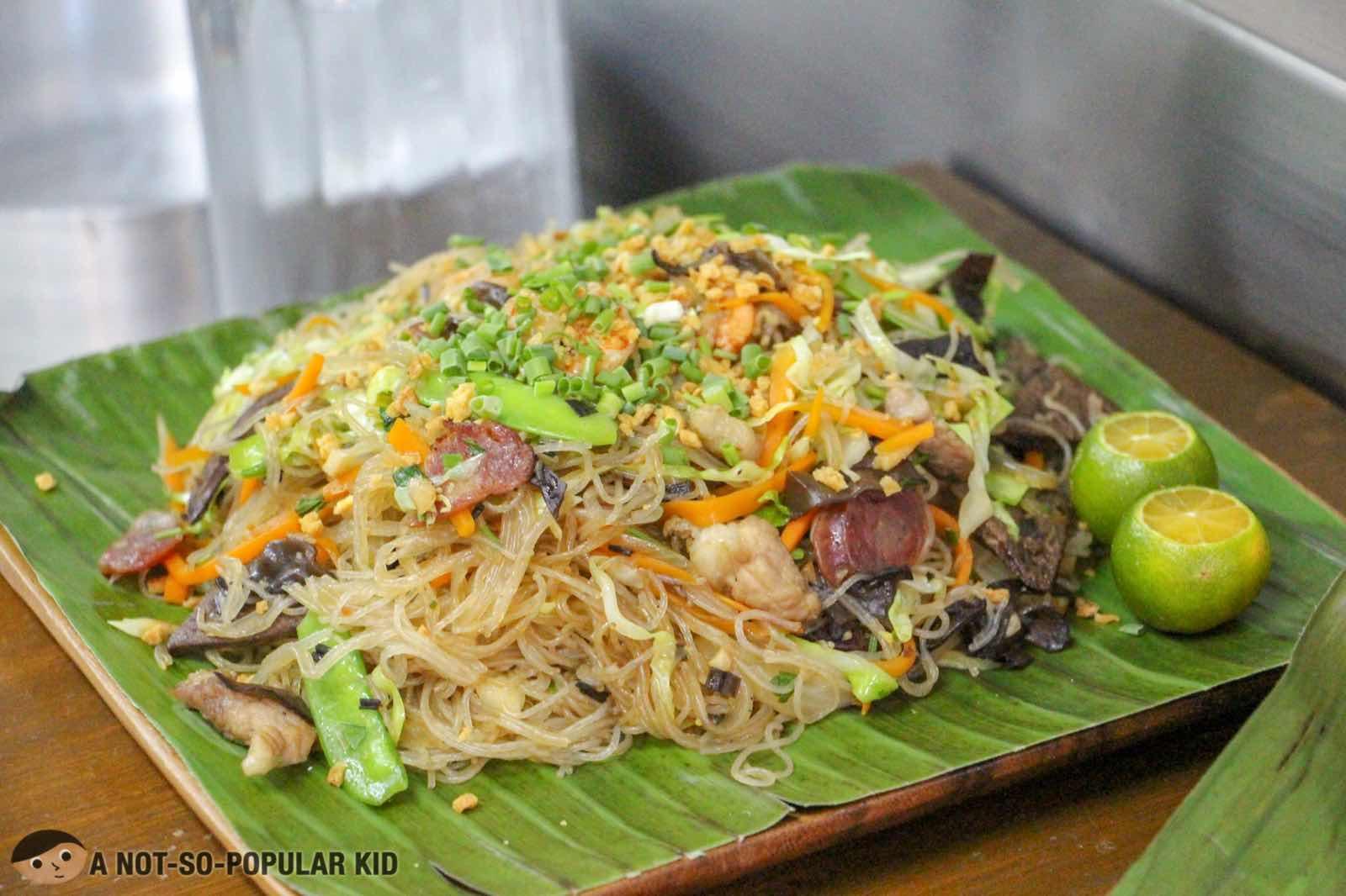 Pancit Guisado - sauteed rice noodles