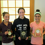 Mass Junior Championships, Jan 3-5, 2014  GU 13: Finalist - Harbour Woodward (Bedford Corners, NY); Champion - McKenna Stoltz (Bronxville, NY); 3rd Place - Qirrat Anwat (Boston, MA)