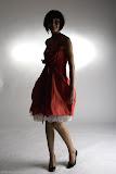 – F L O . R A - bábovička - střih bezezbytku ,material - bavlna, orientační cena šaty 2.500,-Kč, spodnička- orientační cena 1.500,-Kč