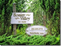 Hominy Valley RV Park roadside entry