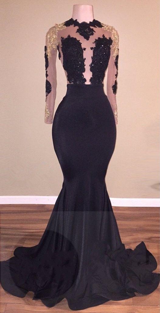 Black African print prom dress designs 2019 2