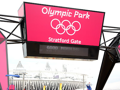 Entrance to Olympic Park in London