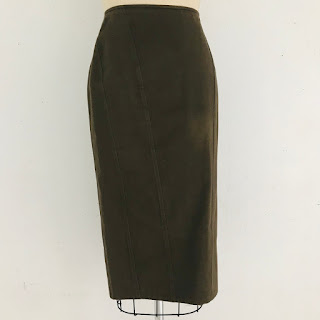 Gucci Olive Brown Pencil Skirt