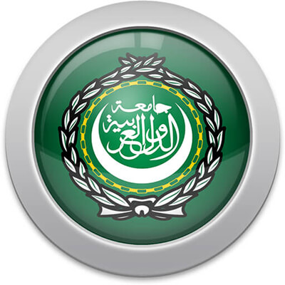 Arabs flag icon with a silver frame