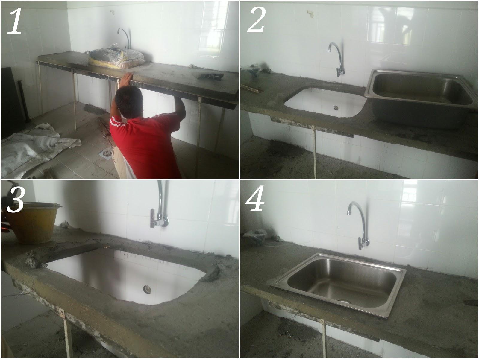 Konkrit Dah Kering Tahap Selanjutnya Pemasangan Sinki
