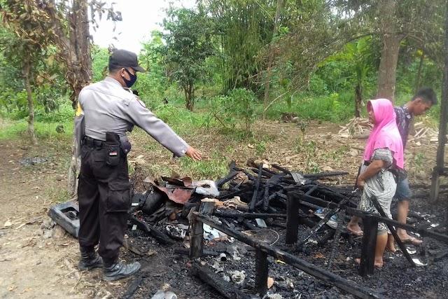 Kebakaran di Tanjung Perawan, Satu Rumah Ludes Terbakar