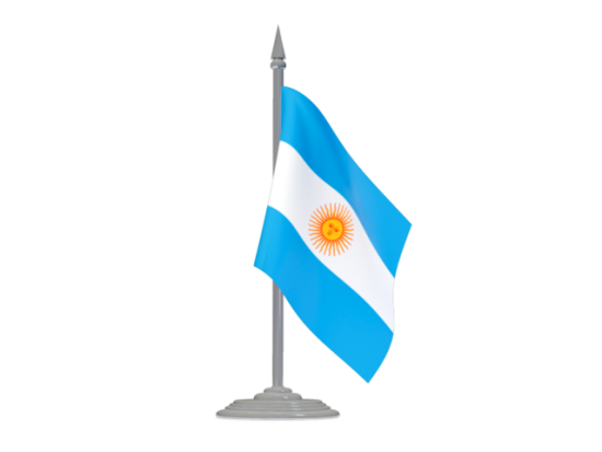 Imágenes de la bandera argentina con asta