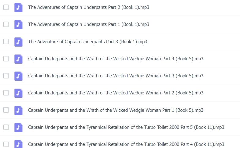【分享】內褲超人The Captain Underpants全套音頻線上索取