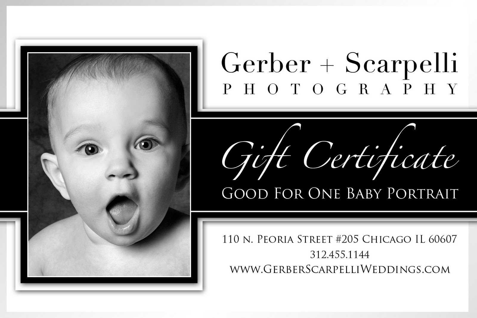 Baby session gift certificates gerber scarpelli baby session gift certificates yadclub Gallery