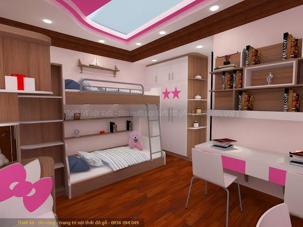 Thiết kế phòng ngủ con gái đẹp