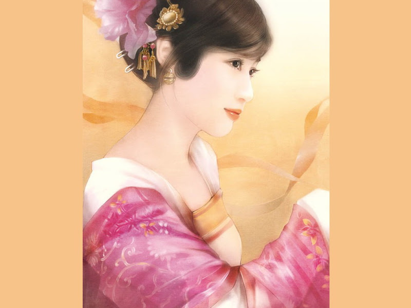 Pink And Rose Samurai Girl, Magic Samurai Beauties