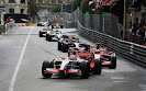 Adrian Sutil (GER) Force India F1 VJM01 leads Kimi Raikkonen (FIN) Ferrari F2008 the lap he was hit into retirement by the Finnish driver.