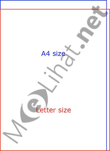 Gambar Ukuran Kertas A4 dalam Pixel