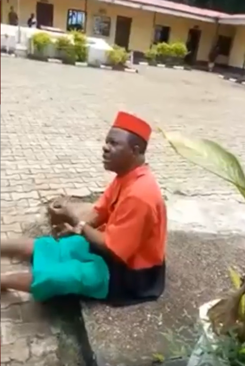 What I'm wearing is a civil dress and not a Biafran regalia or linked to ESN - Actor Chinwetalu Agu speaks at Army division he was taken to after being arrested by soldiers (video)