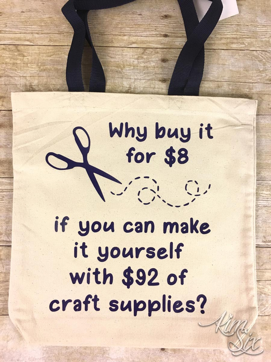Sarcastic craft tote bag
