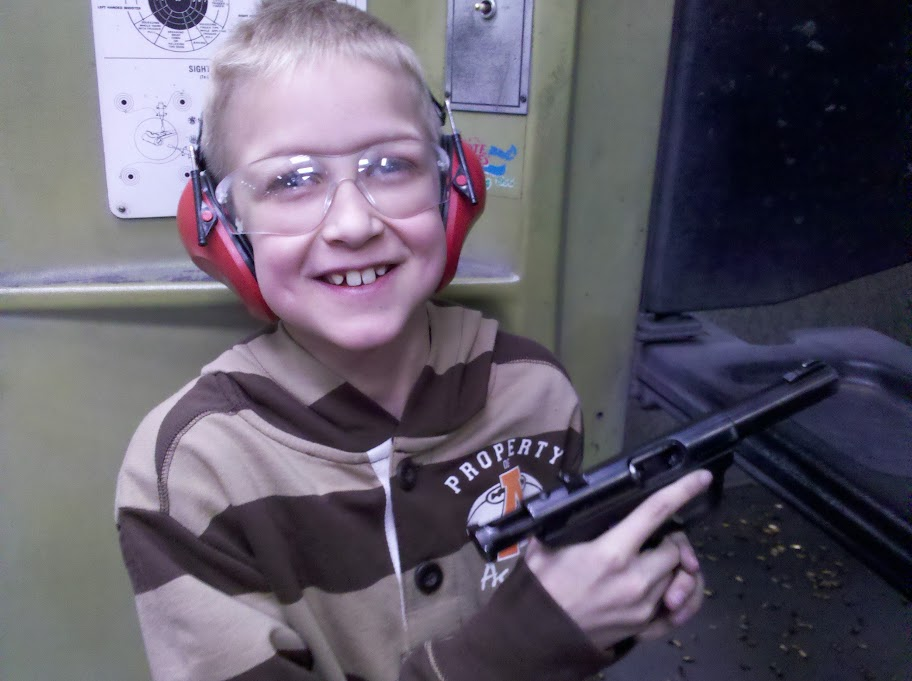 Coolwhip 9yr Old Fires .22lr pistol for first time.