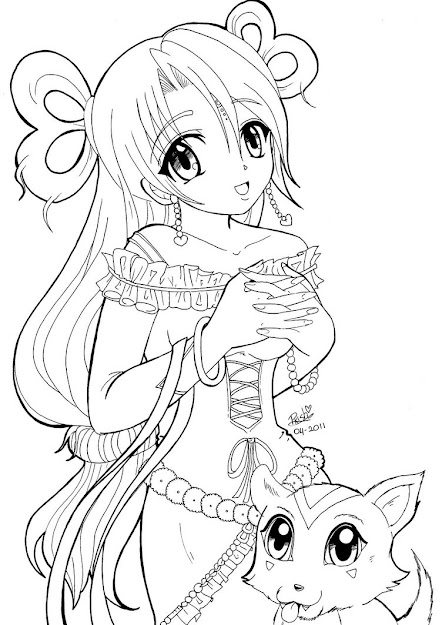 Pleasant Manga Coloring Pages Of Anime For Coloring Pages