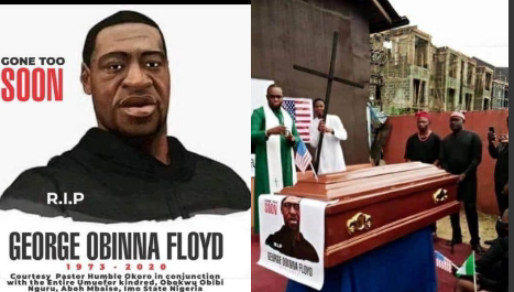 Late George Floyd Allegedly Reburied in Mbaise, Imo State, Nigeria After Pastor Traced His Ancestral Root(Photos)