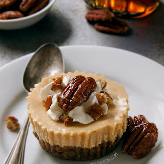 Maple Cheesecakes with Pecan Crust (grain-free, gluten-free, whole grain, traditional options)