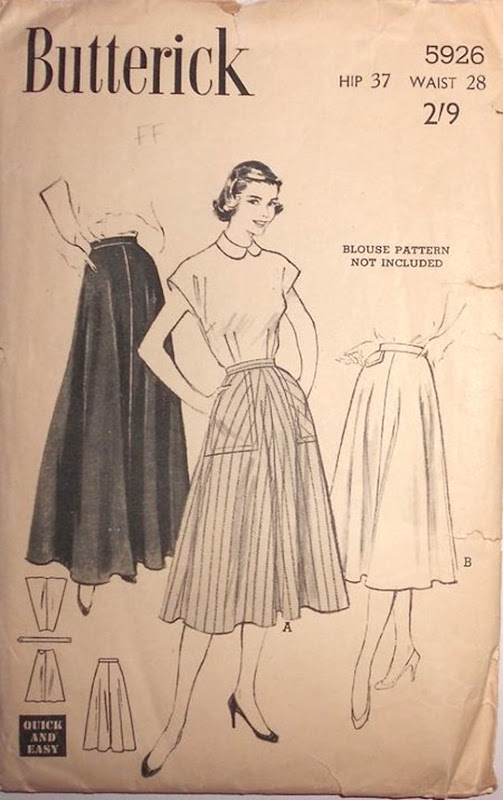 Butterick 5926 - a 1951 vintage pattern | Lavender & Twill