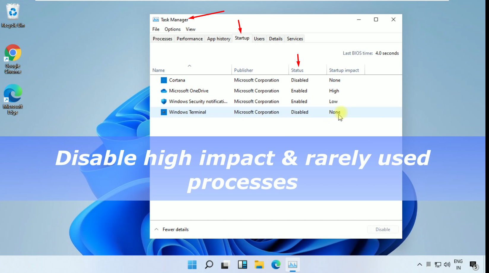 Windows 11 Task Manager Disable Services