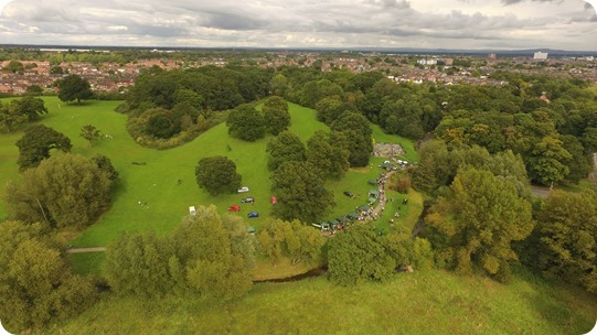 Aerial view of the event at the  Joey the Swan Recreation ground