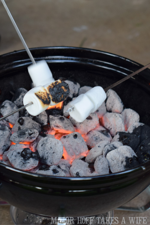 Charcoal grill for roasting marshmallows