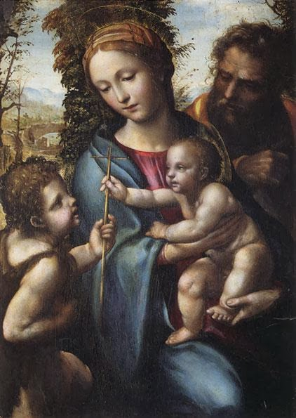 Il Sodoma - Holy Family with St. John the Baptist