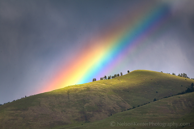 Mount Sentinel Rainbow. Photo by Nelson Kenter. All Rights Reserved. Prints available at www.kenterphotography.com