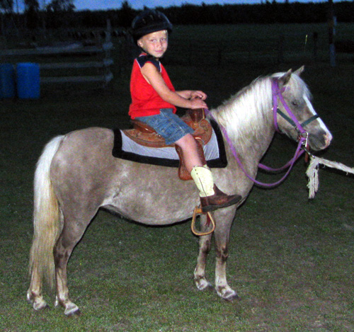Little Jim's Bit of Silver with a leadline rider - 2009
