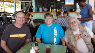 ARRL Virgin Islands Section Manager Fred Kleber NP2X, Roger Cain KI6FYF and Carol Milazzo KP4MD on St. Croix USVI