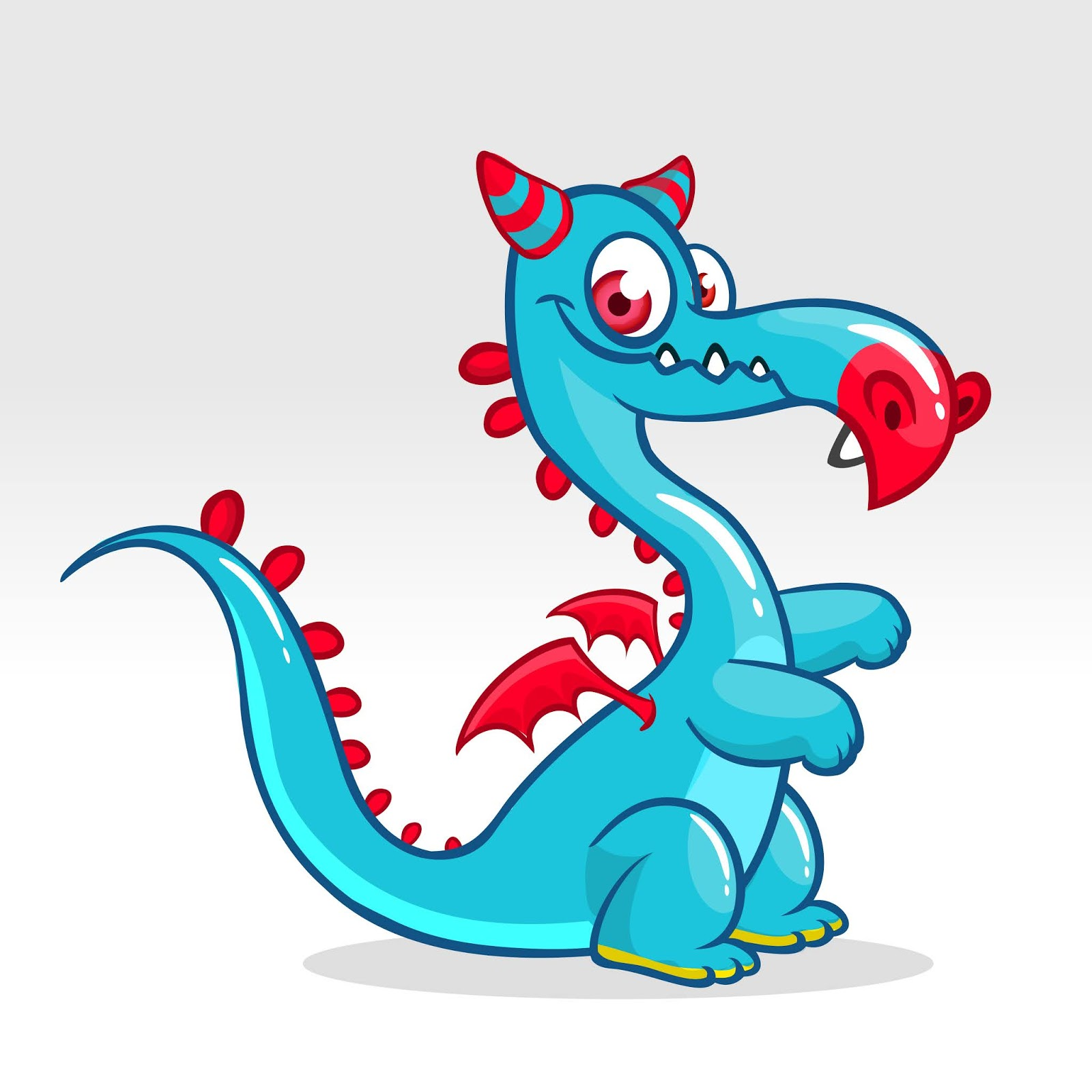 Funny Cartoon Dragon Halloween Free Download Vector CDR, AI, EPS and PNG Formats