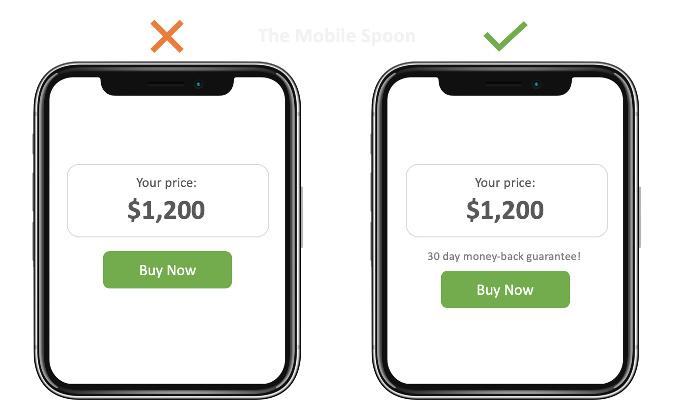 Mobile UI Design - Shorten your CTA button text and combine it with a header to increase clarity