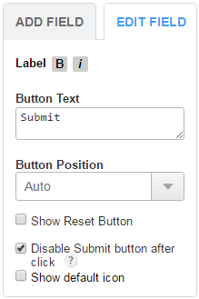 123ContactForm edit submit button