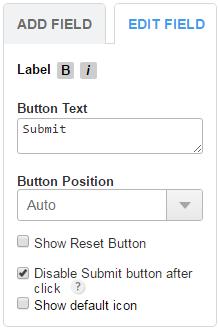 123FormBuilder edit submit button