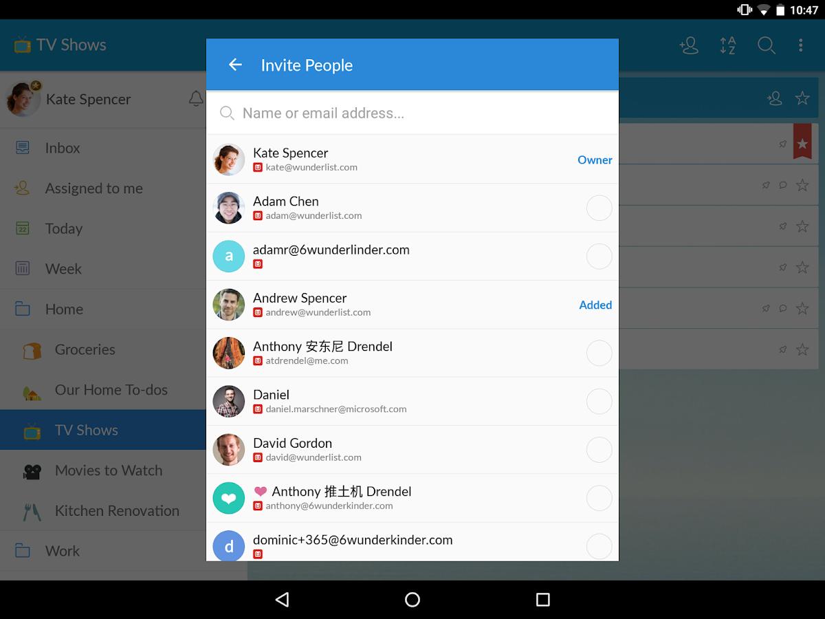 Wunderlist: To-Do List & Tasks- screenshot